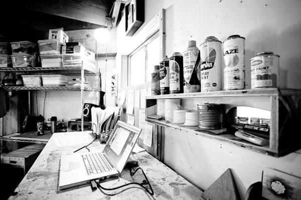 Erik Otto Studio Visit #paint #spray #studio #workspace
