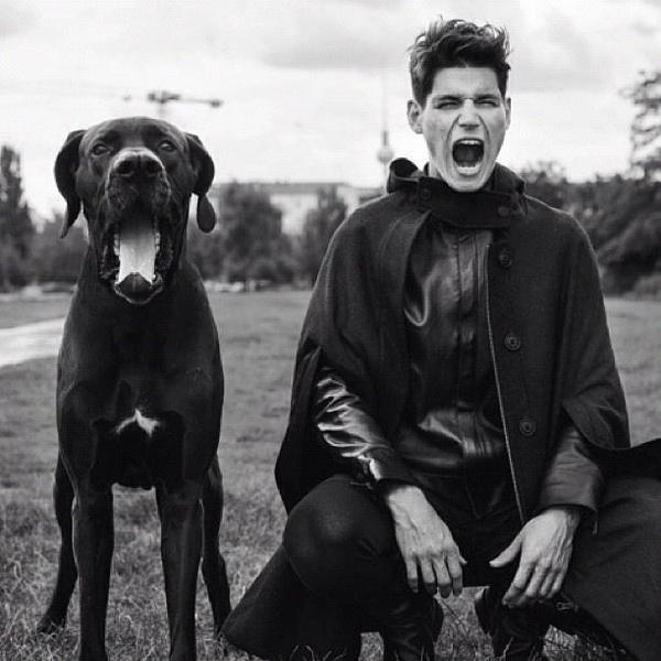 man and dog #man #photography #scream #dog