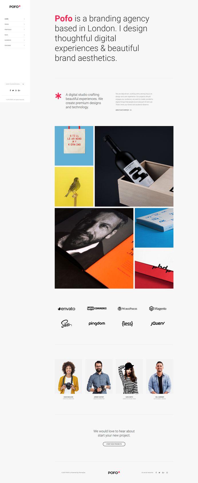 Pofo - #Creative #Portfolio and #Blog #WordPress Theme for #Simple Portfolio #Homepage by #ThemeZaa