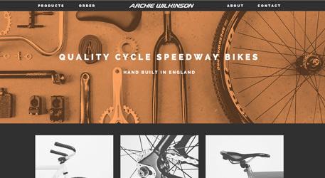 archie wilkinson.co.uk #orange #web #bike