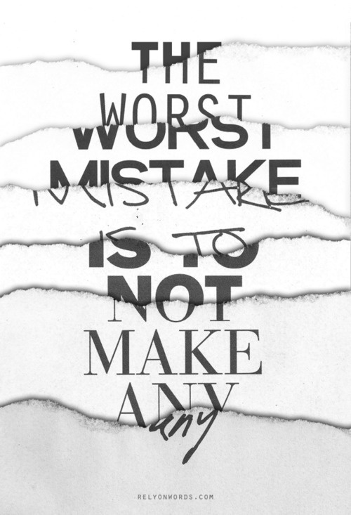 "Typeverything.com""The Worst Mistake"" by WRDBNR. #mistake #scrap #typography"