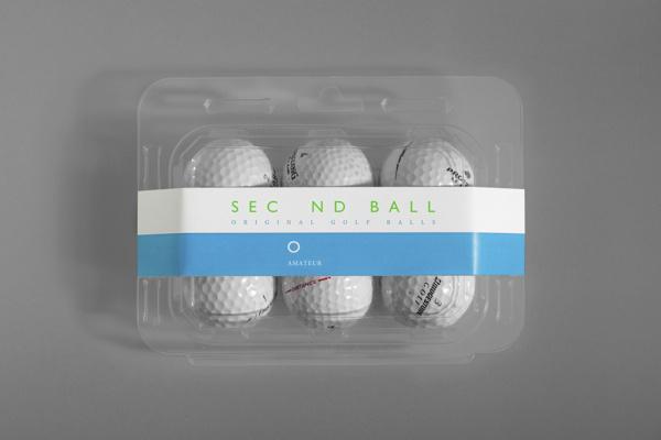 Second Ball on Behance #secondball #golf #packaging #label #fiore #original #blue #balls #green