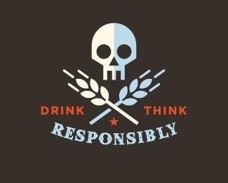 Vintage Badge Logo logopond.com #badge #alcohol #grain #logo #skull #wheat