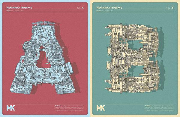 MEKKANIKA | typetoken® #technical #mekkanika #typeface #poster