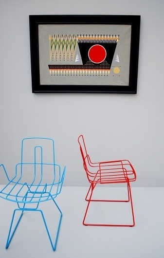 We Find Wildness #chair #shapes #painting #triangles #trendy