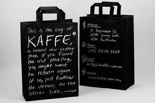 "Kaffe"" Coffee shop branding - Jared Erickson | Jared Erickson #coffee #bag #black #branding"