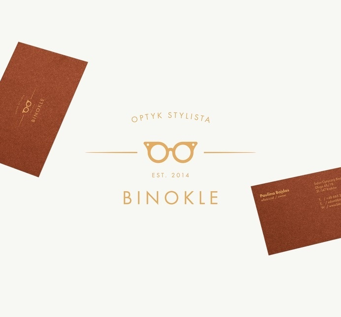 Branding project for Binokle Eyewear Store in Cracov, Poland Appreciate on Behance:Â http://bit.ly/Nhkt0H #logo #branding #stationary #visua