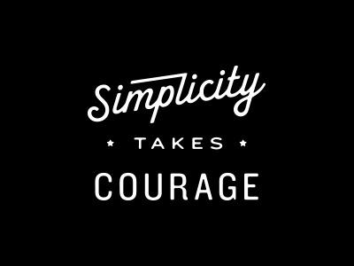 Typography, Simplicity, type, script
