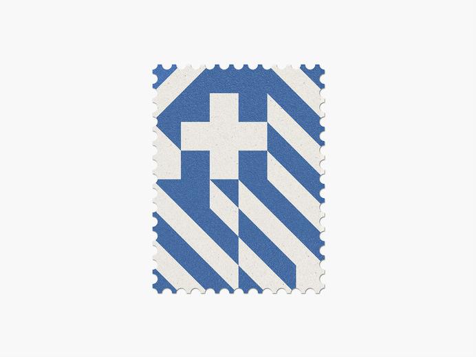 Greece #stamp #graphic #maan #geometric #illustration #minimal #2014 #worldcup #brazil
