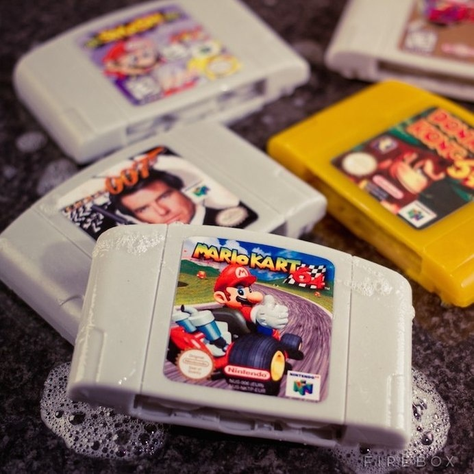 Nintendo 64 Cartridge Soaps #tech #flow #gadget #gift #ideas #cool