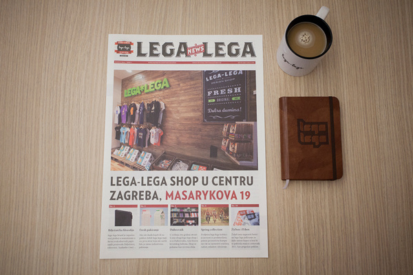 lega-lega Newspapers #legalega #leo #croatia #lega #design #osijek #leovinkovic #brand #vinkovic #newspapers #editorial #typography