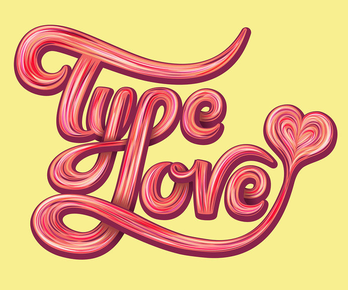 TypeLove by Mario De Meyer #inspiration #lettering #love #typography