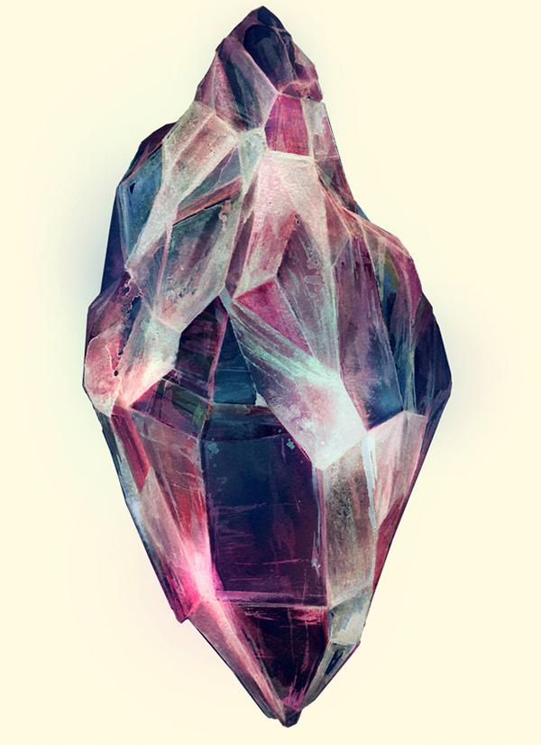 likeafieldmouse:Karina EibatovaMineral (2010) Watercolor on paper #mineral