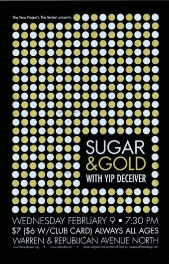 GigPosters.com - Sugar And Gold - Yip Deceiver #screen #print #metallic #poster