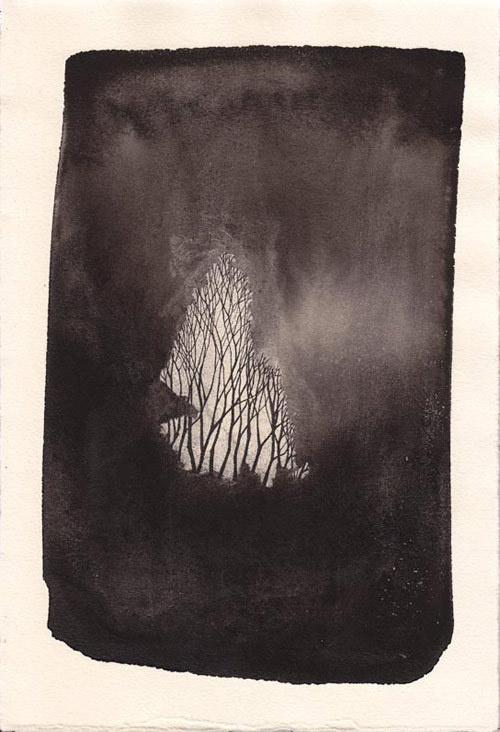 Artist Pablos Herrero #ink #tree #black&white #wash #art #branches