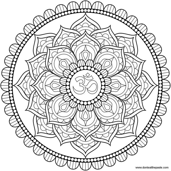 Line Drawing Mandala : Line art lotus mandala in tattoo ideas