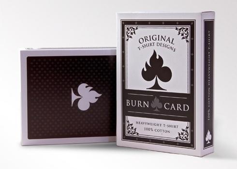 T-Shirt packaging for Burn Card original t-shirts - Burn Card Clothing #packaging #fashion