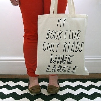 swissmiss   Book Club Tote Bag #tote #labels #my #book #wine #only #reads #club