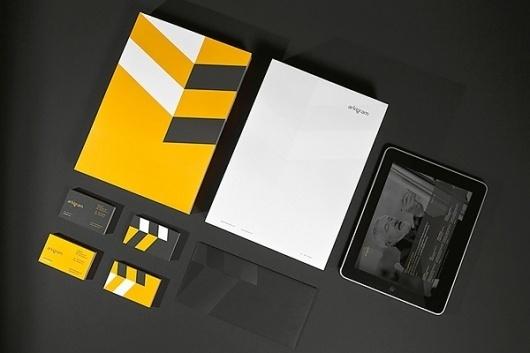 Looks like good Graphic Design by Ineo Designlab #yellow #branding #grey
