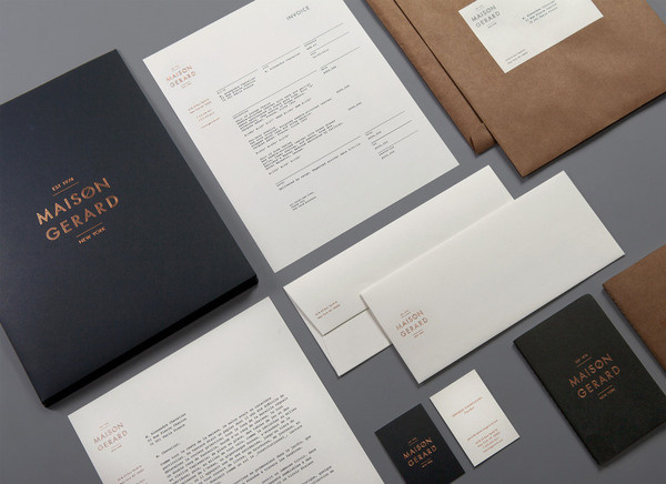 lovely stationery maison gerard 1 #print #branding #stationery