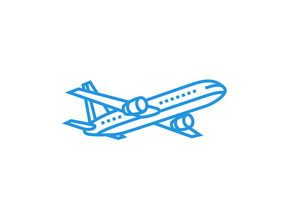Icon design by Tim Lautensack #icon #icondesign #picto #line #airplane
