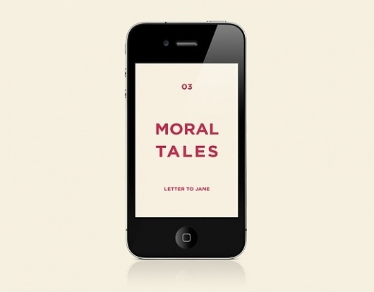 Moral Tales for iPhone on the Behance Network