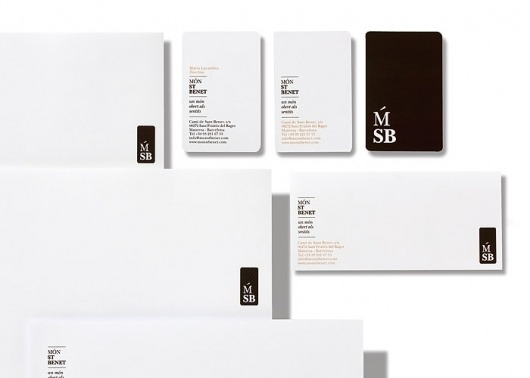 Fundació Caixa Manresa / Naming and identity Món Sant Benet / Signage #logo #card #business