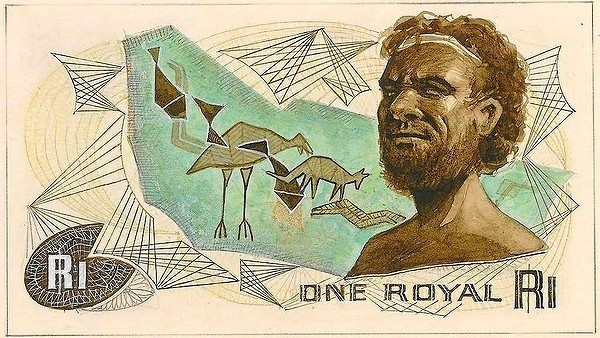A trial sketch for the one royal note. #bill #note #retro #money