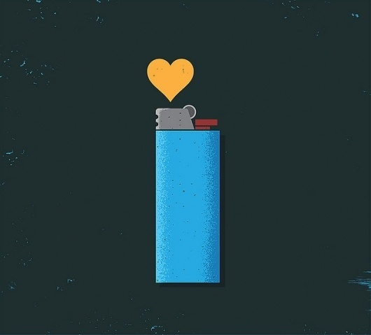 Heart Lighter | Flickr - Photo Sharing! #illustration #heart #love #lighter