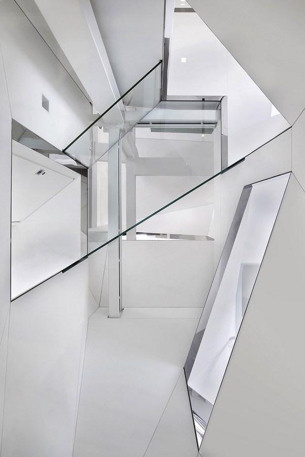 Elegant stairs and white modern interior #interior #artistic #penthouse #apartment #fun
