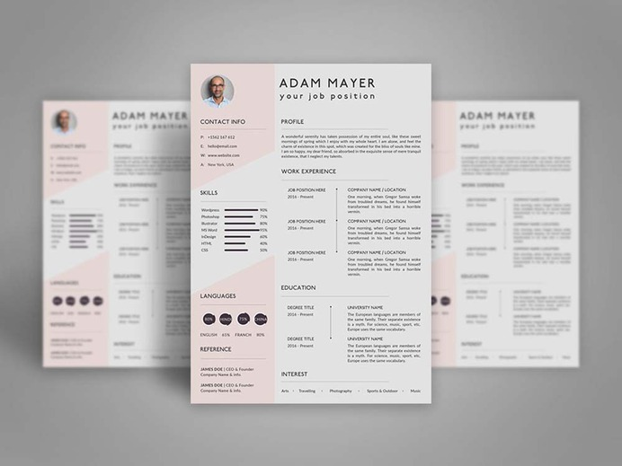 Free Universal Resume Template for Any Job Opportuniy