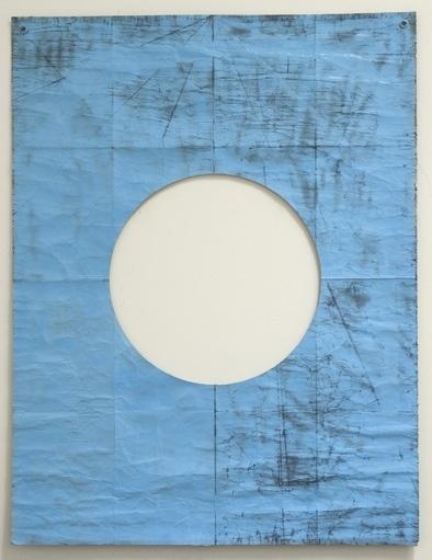 Dan Shaw-Town #blue #drawing #hole #art