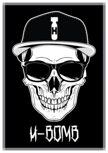 H-Bomb Design: H-Bomb Clothing Truly Begins. #illustration #cap #bomb #skull