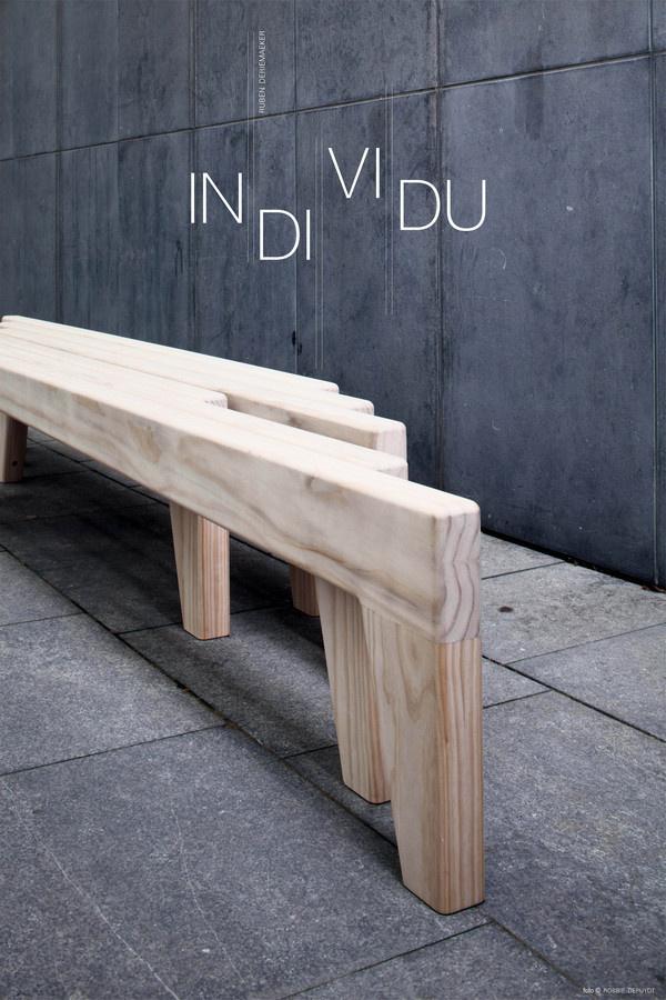 Individu Bench #interior #creative #inspiration #amazing #modern #design #ideas #furniture #architecture #art #decoration #cool