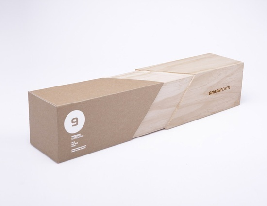 One Percent #shoes #cardboard #packaging #box #wood