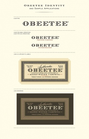 Obeetee Identity|Roseys 2010 #mark #type #card #logo