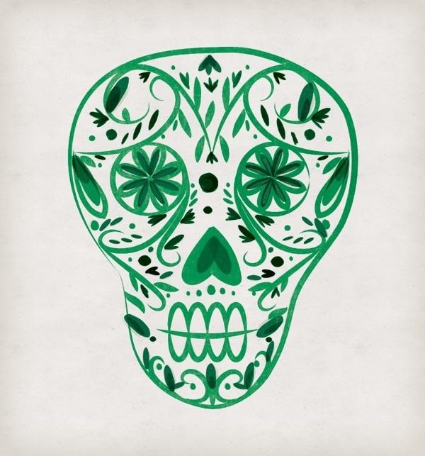 Dia De Los Muertos print illustration on Behance #los #da #de #illustration #inc #quaint #calavera #skull #muertos