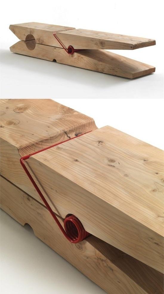 Solid #wood bench MOLLETTA by Riva 1920 | #design Baldessari e Baldessari