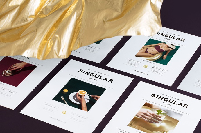Singular Branding - Mindsparkle Mag Singular is located in Playa del Carmen, Mexico. It is a residential project that fuses the concept of condo and hotel. #packaging #logo #identity #branding #design #color #photography #graphic #design #gallery #blog #project #mindsparkle #mag #beautiful #portfolio #designer