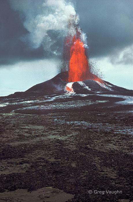 Pu'u O'o eruption, Kilauea Volcano, Hawaii Volcanoes National Park.