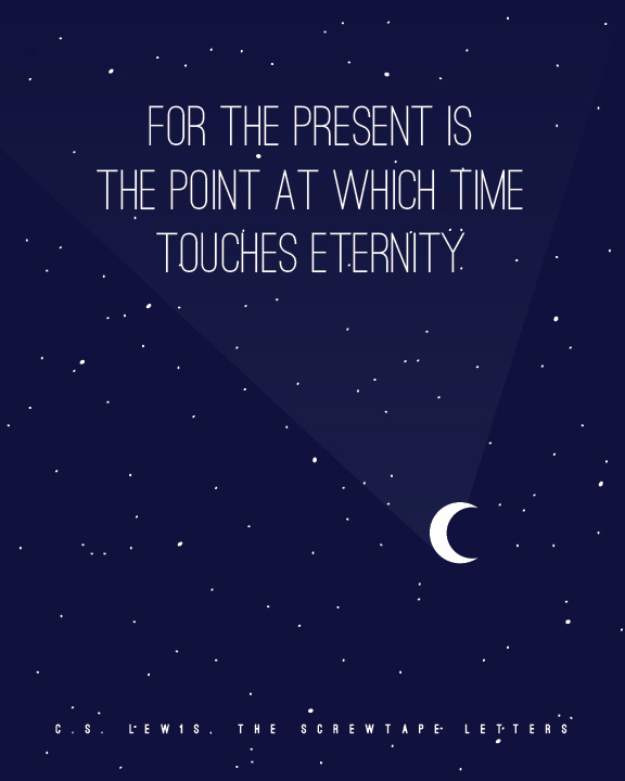 CS Lewis quote poster #sky #quote #printable #free #lewis #night #stars #typeography #poster #cs #moon