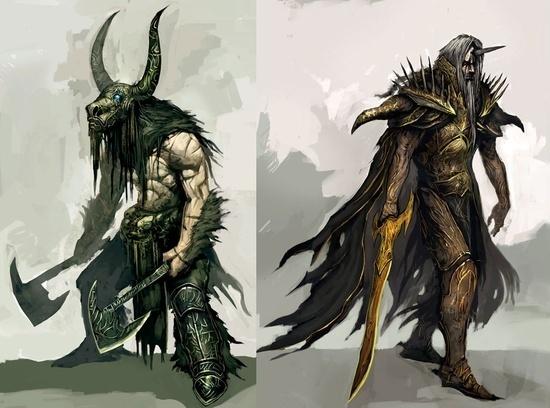 Guild Wars concept art #fantasy #illustration #magic #monster #character