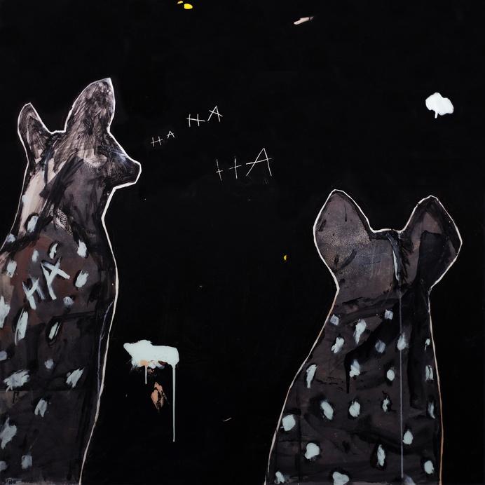 midnight hyena 01 gino belassen – minimalism / contemporary painting