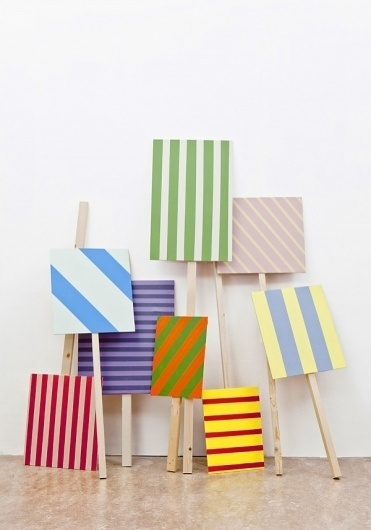 RAW COLOR #raw #installation #stripes #color #ontour #signboards
