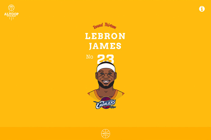 Alyoop of the Week #vector #ux #icon #lebron #nba #video #illustration #web #basketball #typography