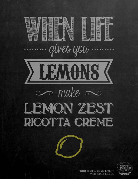 Creative and Inspiring Print Ads #lettering #lemons #design #chalk #illustration #vintage #zest #type #typography