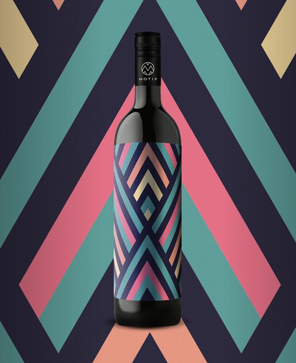 10_17_13_MotifWine_5.jpg #bottle #packaging #design #color #wine #geometric