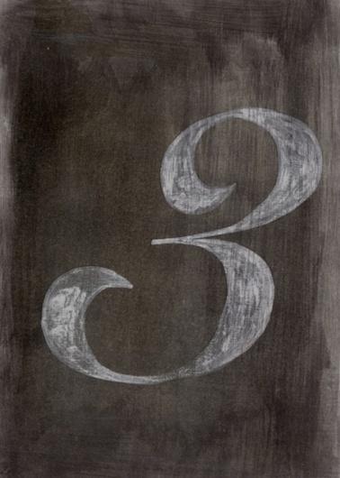 Typeverything.com - Number 3 byGiuseppe Salerno(... - Typeverything #three #letter #paint #chalk