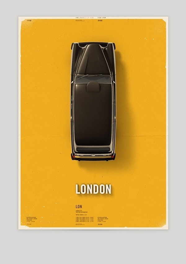 The Design Blog #london #taxi #poster