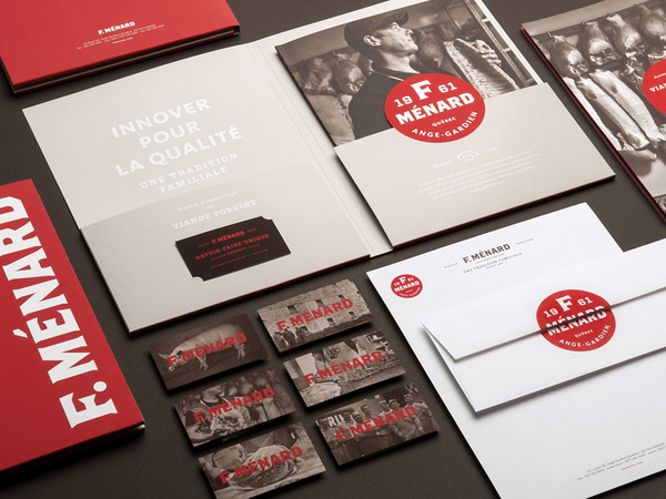 F. Ménard Logo and Identity #stationary